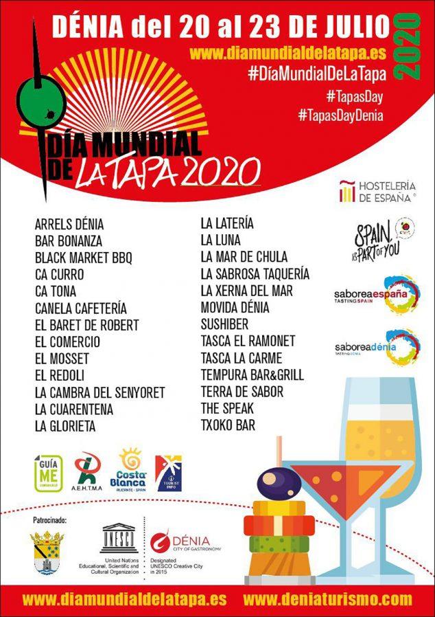 Imagen: Locales participantes en la ruta del Día Mundial de la Tapa
