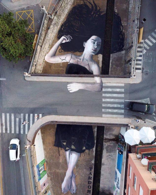 Imagen: Mural Atrapada en el tiempo de Tardor en Ondara