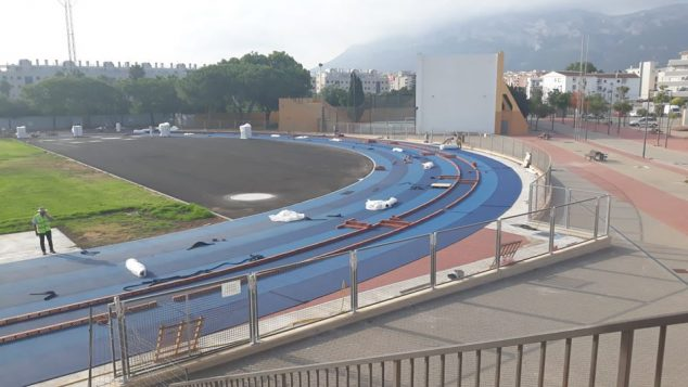 Image: Works of the athletics track
