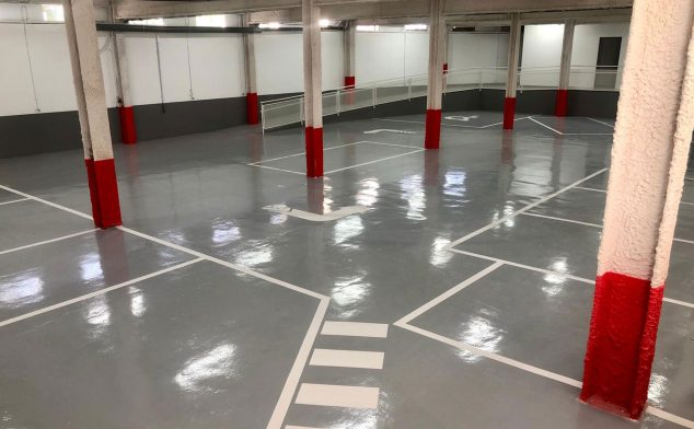 Image: New underground parking to provide services to patients at Policlínica Glorieta