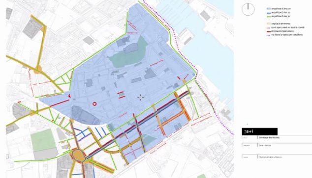 Imagen: Plano de las futuras zonas 20-30 de Dénia