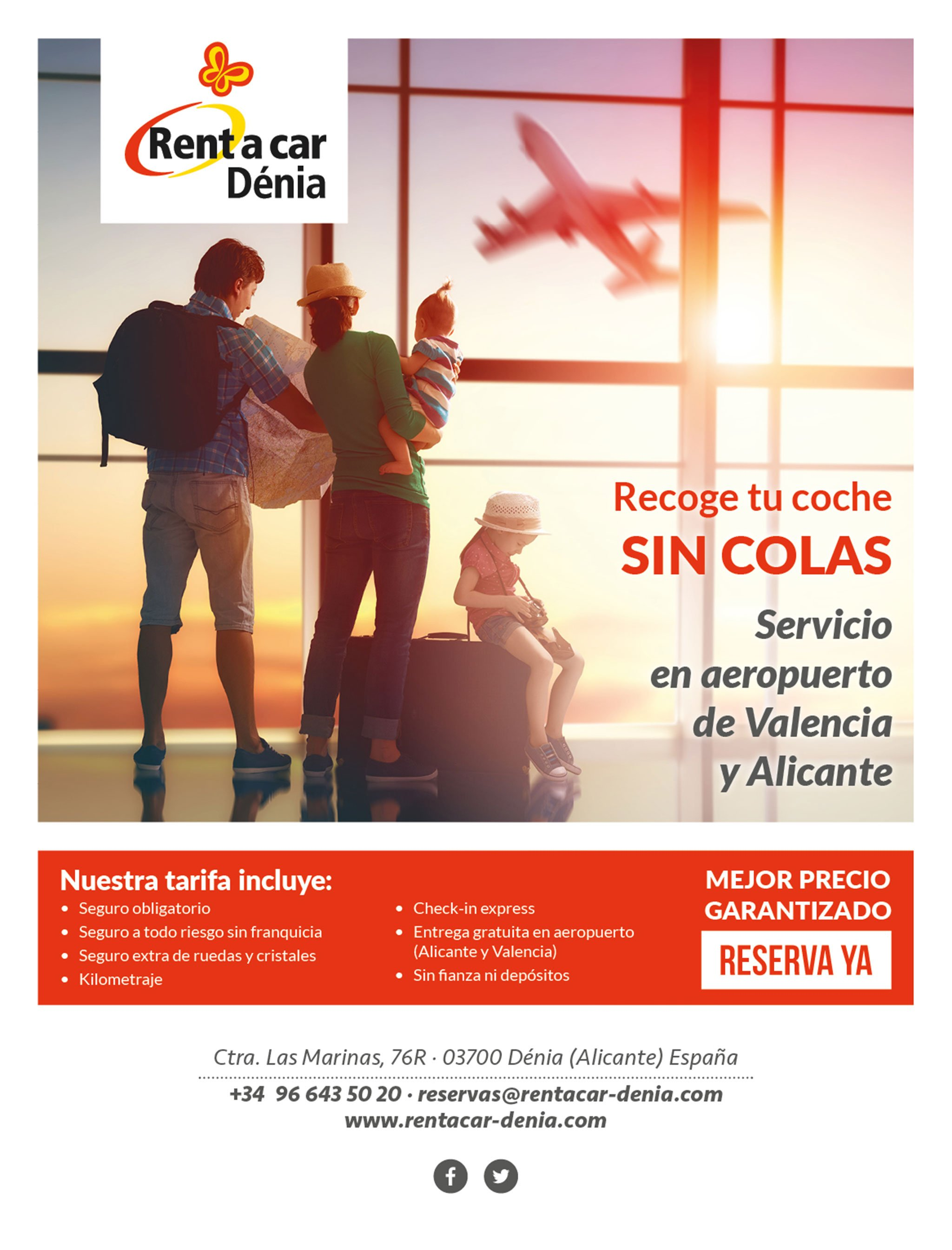 Trust Rent a Car Dénia and rent your vehicle with all the comforts