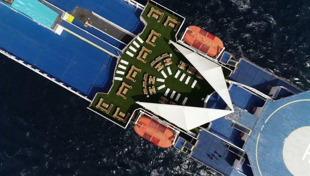 Imagen: Terrazas sostenibles de Baleària
