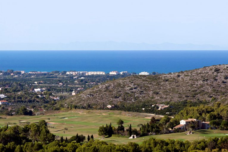 Sea views from La Sella Golf