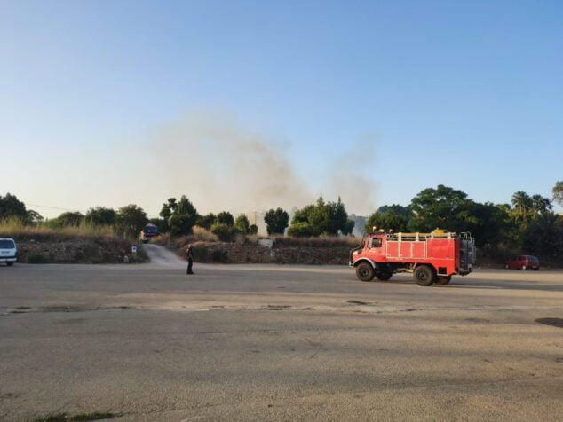 Imagen: Camión de bomberos en Torrecremada