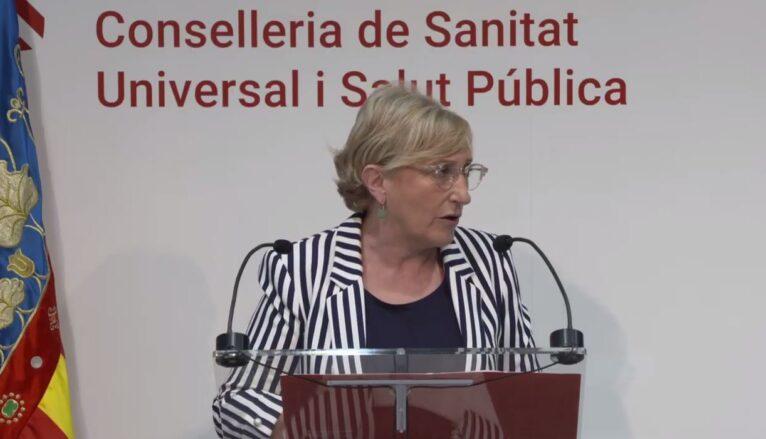 Ana Barceló, consellera de Sanitat, durante una rueda de prensa