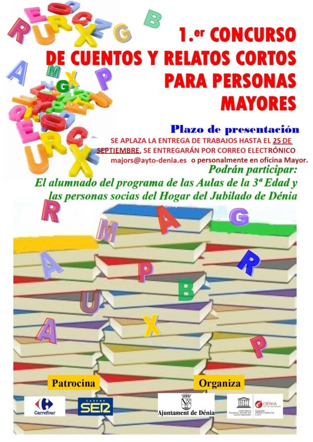 Image: Poster contest of stories and tales for the elderly