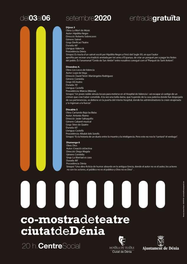 Imagen: Cartel de la Mostra de Teatre Ciutat de Dénia 2020