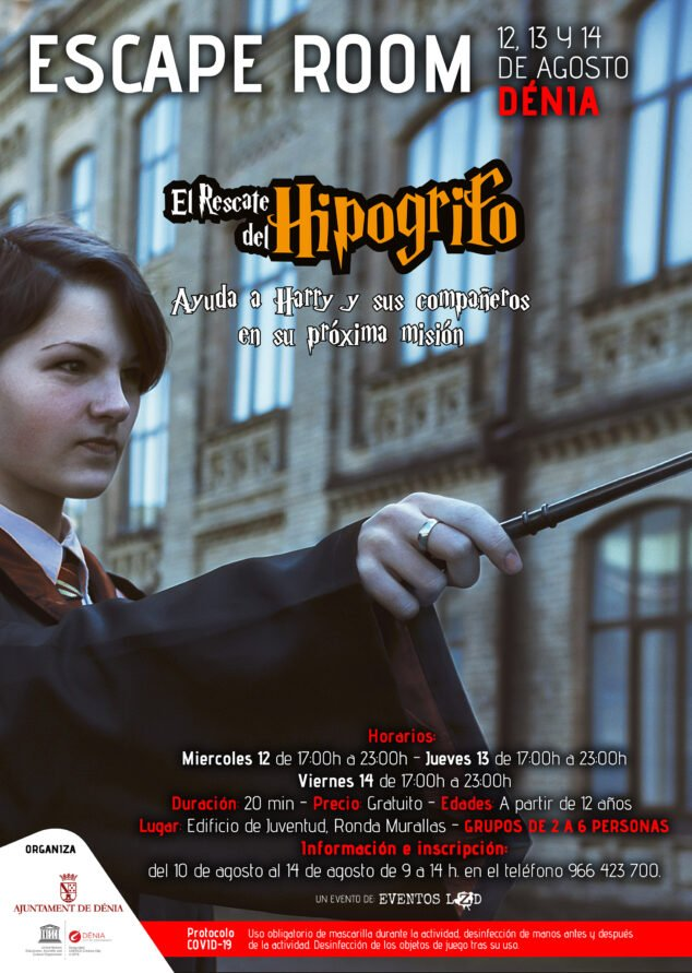 Imagen: Escape room de Harry Potter en Dénia