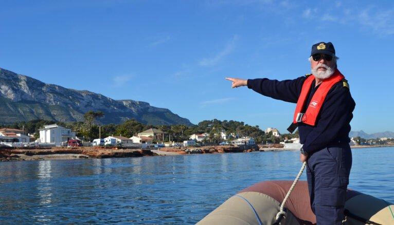 Gabriel Martínez naviguant aux Rotes