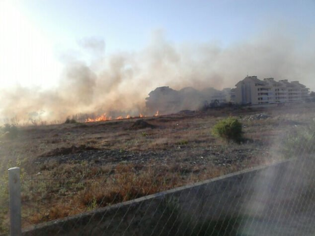 Image: Fire of July 2014 in Dénia