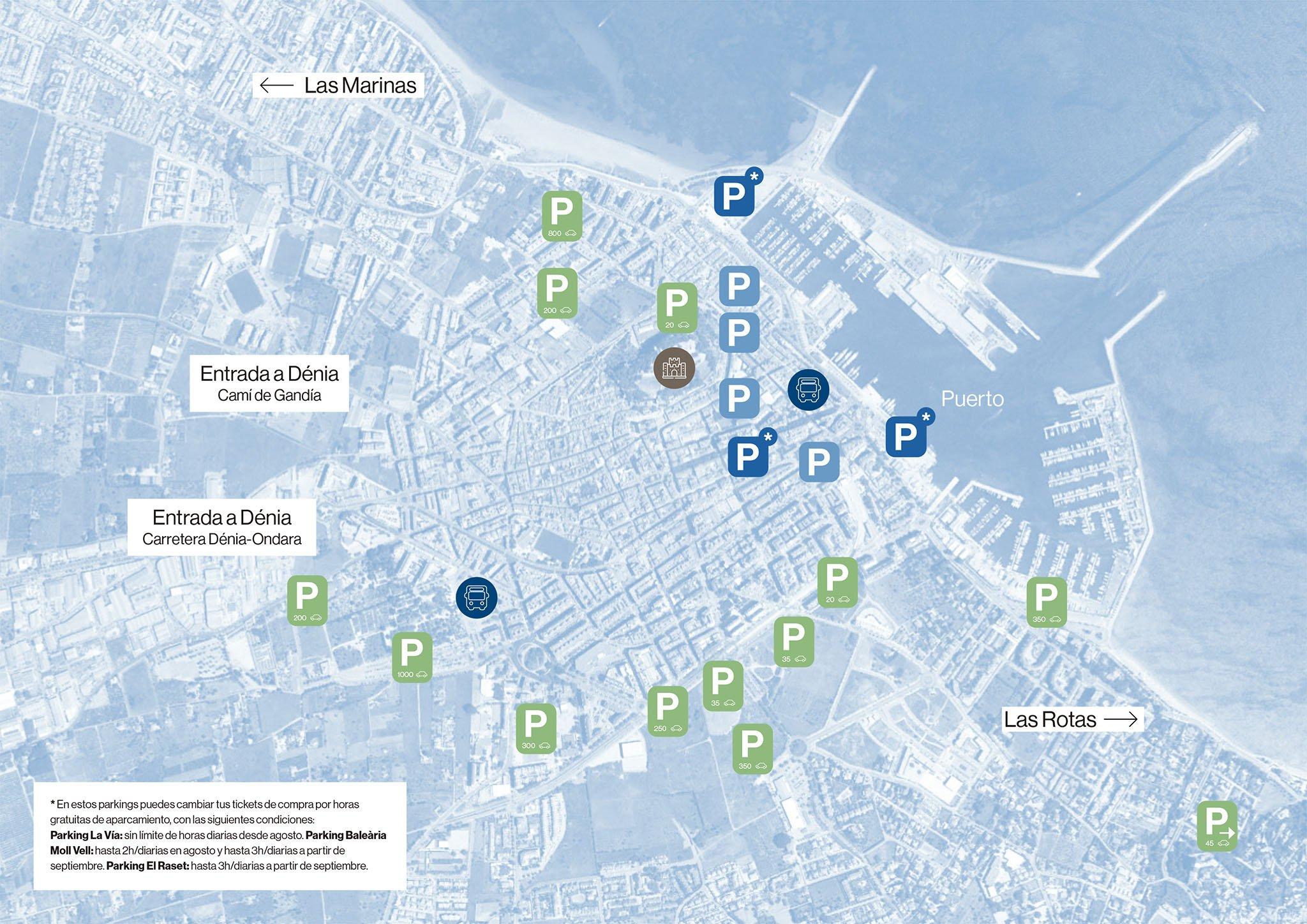 Mapa de parkings de la campaña