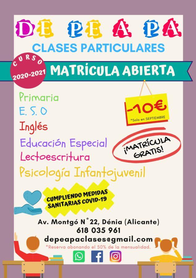 Imagen: Nuevo curso en De Pe A Pa Clases Particulares