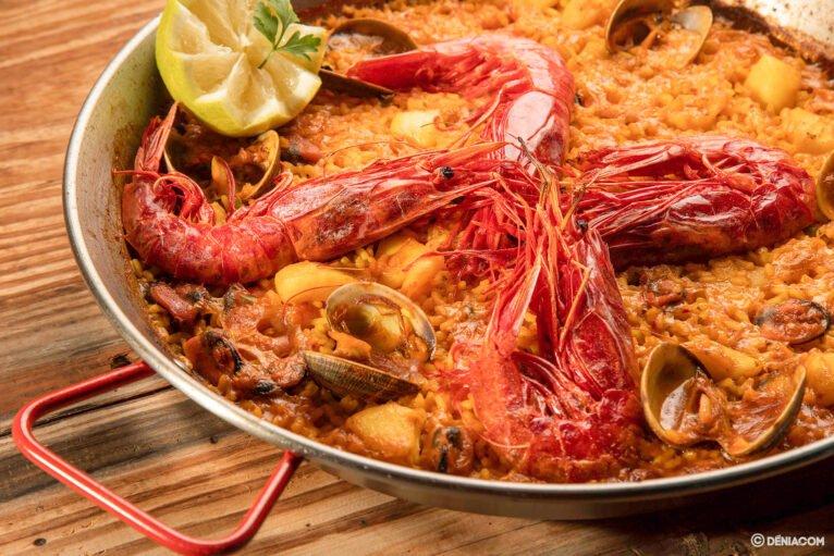 Paella de marisco Arrozes