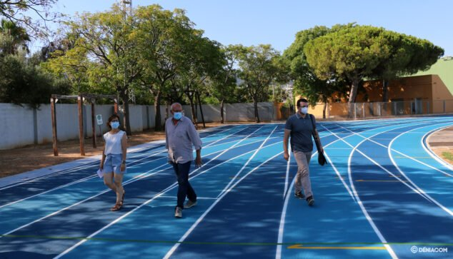Image: Presentation of the athletics track of Dénia