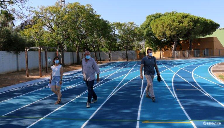 Presentación de la pista de atletismo de Dénia