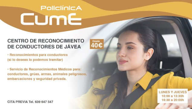 Image: Make an appointment for your recognition at the Driver Recognition Center Jávea