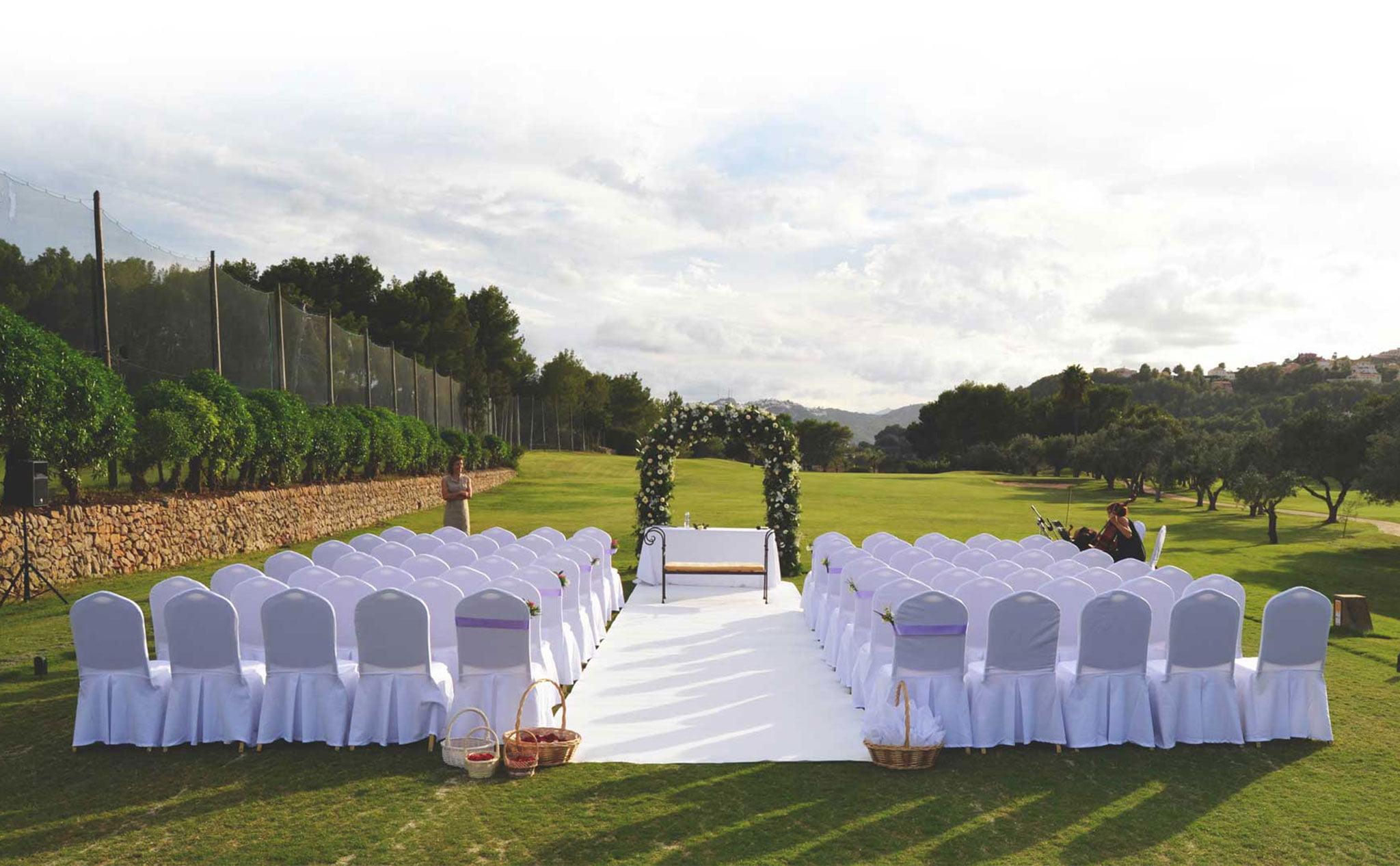 Bodas al aire libre en Dénia –  Hotel Dénia Marriott La Sella Golf Resort & Spa