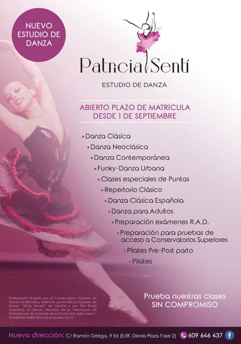 Cartel del curso 2020-2021 en Estudio de Danza Patricia Sentí