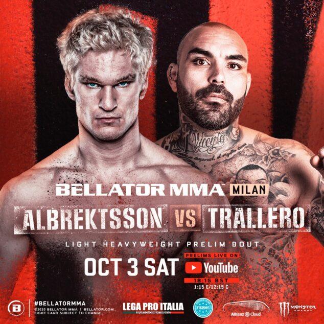 Imagen: Cartel del combate de David Trallero en Bellator MMA