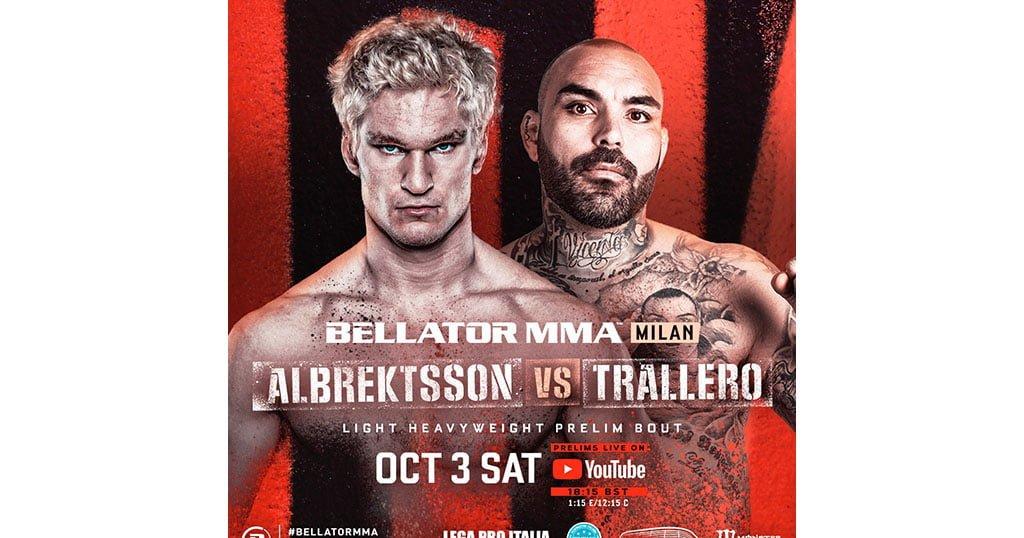 Poster of David Trallero's match in Bellator MMA FB