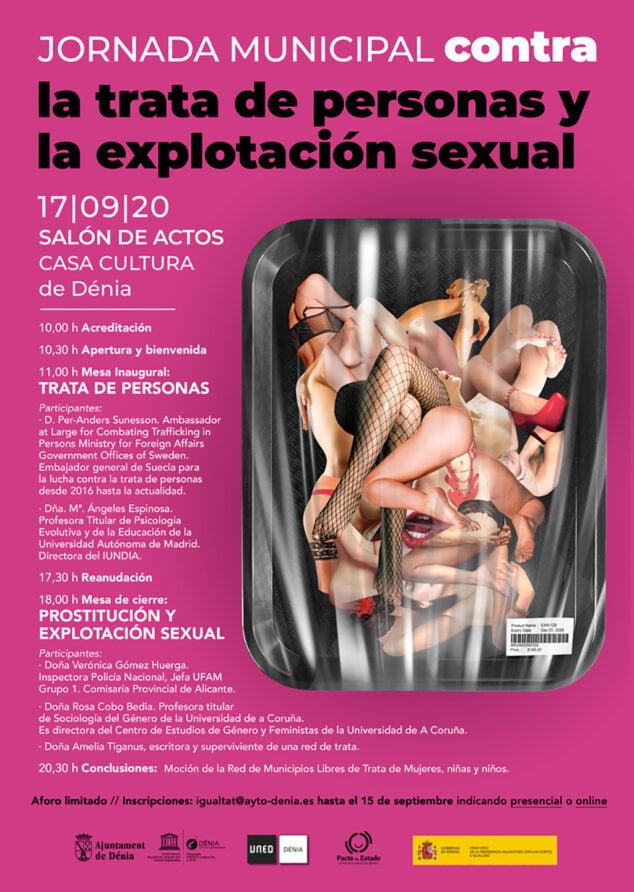 Image: Affiche de la journée municipale contre la traite des êtres humains et l'exploitation sexuelle