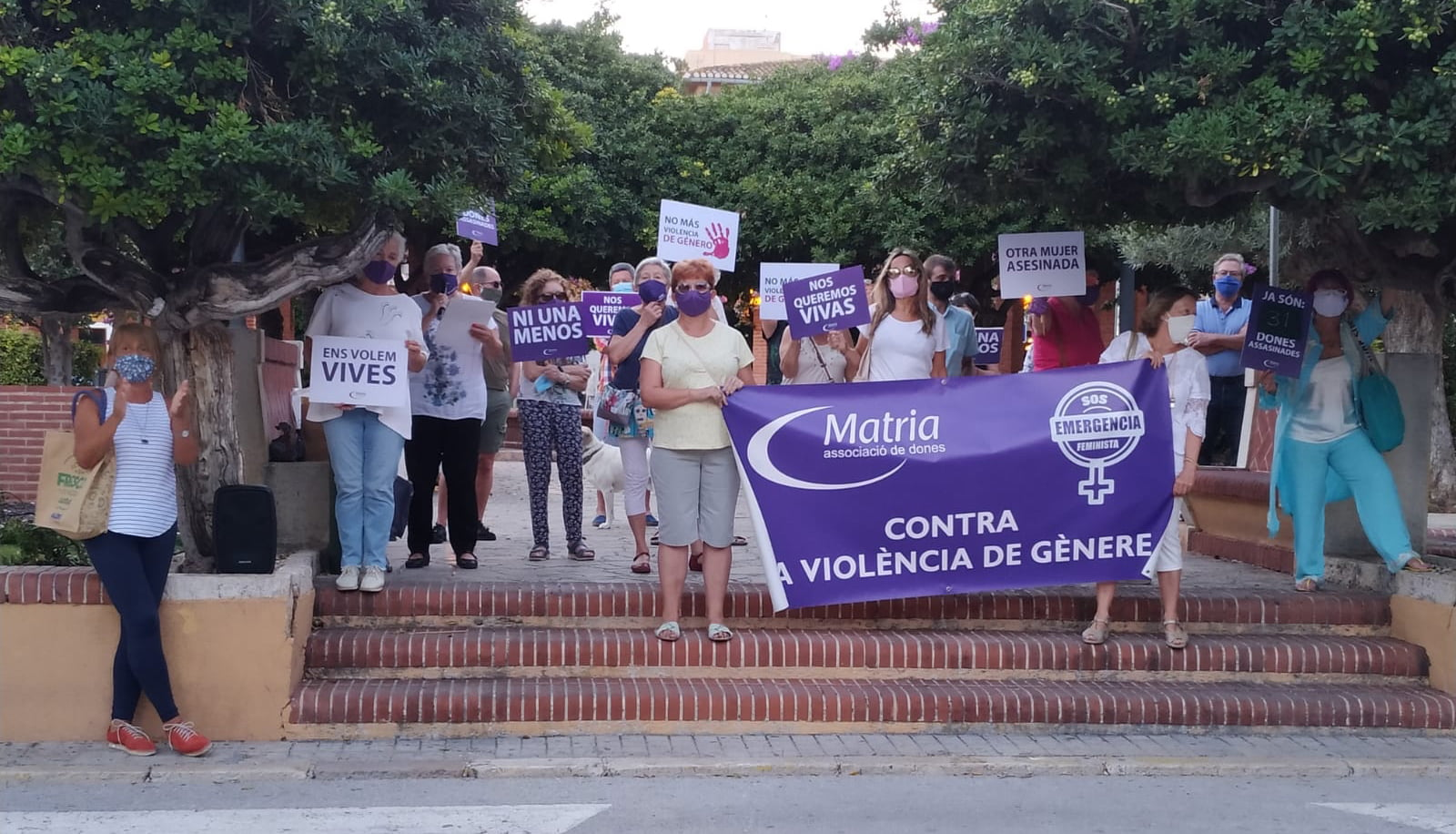 Concentración de MATRIA en memoria de las víctimas de violencia machista