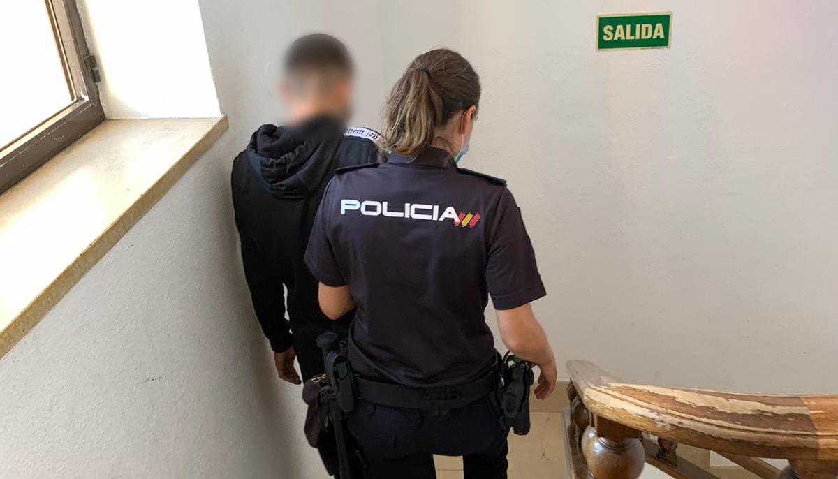 Detención del joven en Dénia