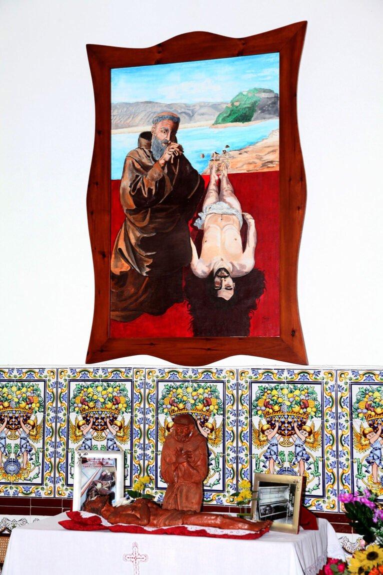 Fresco en la ermita del Pare Pere en Dénia   Imagen: Tino Calvo