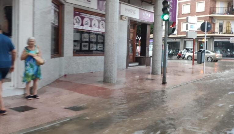 La fuerte lluvia de agosto anega Patricio Ferrándiz
