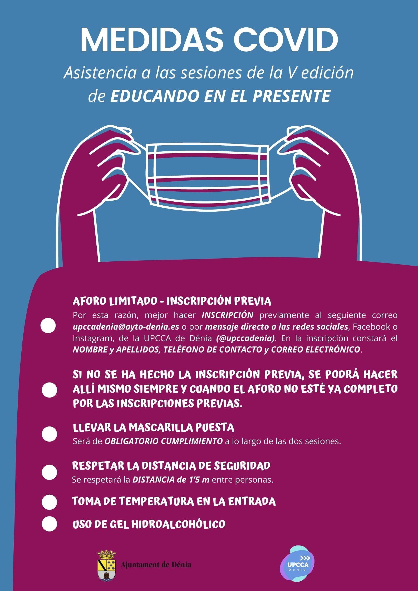Medidas de seguridad de Educando en el presente