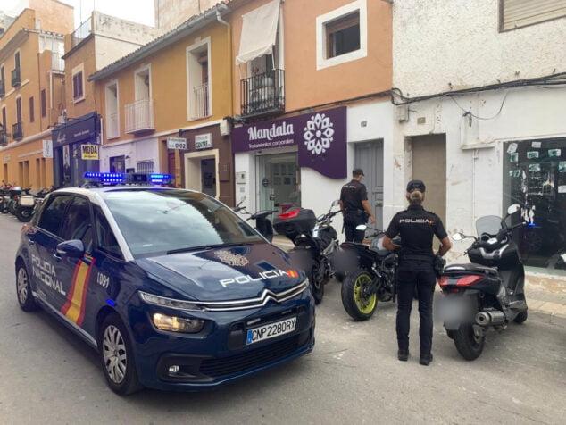 Imagen: Policía Nacional en la intervención