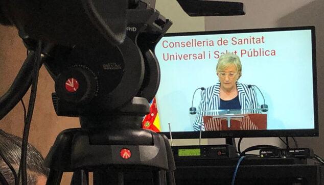 Imagen: Rueda de prensa de la consellera Ana Barceló