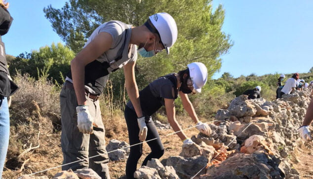 Image: Students working in the training course
