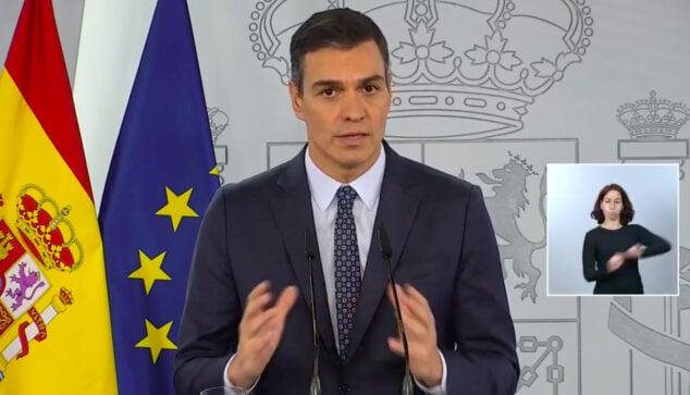 Imatge: Anunci de Pedro Sánchez de el nou estat d'alarma