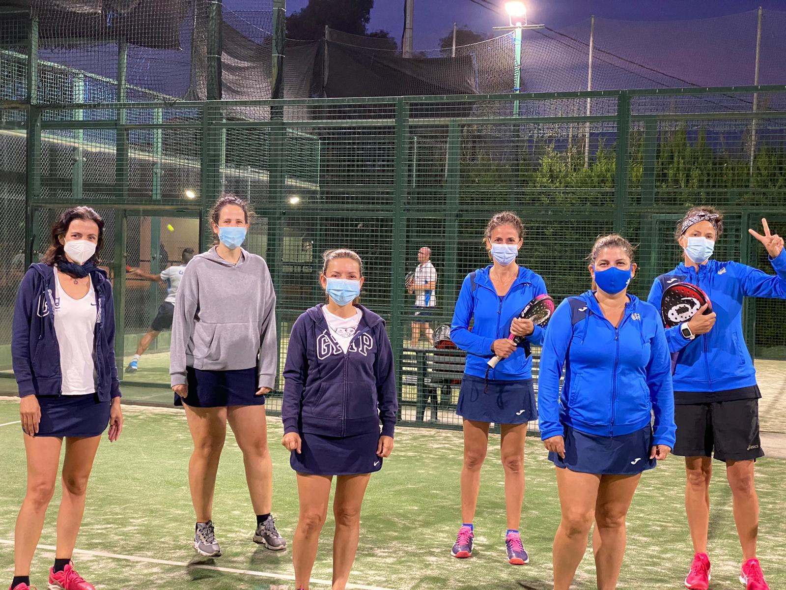 Equipo de pádel femenino del CT Dénia