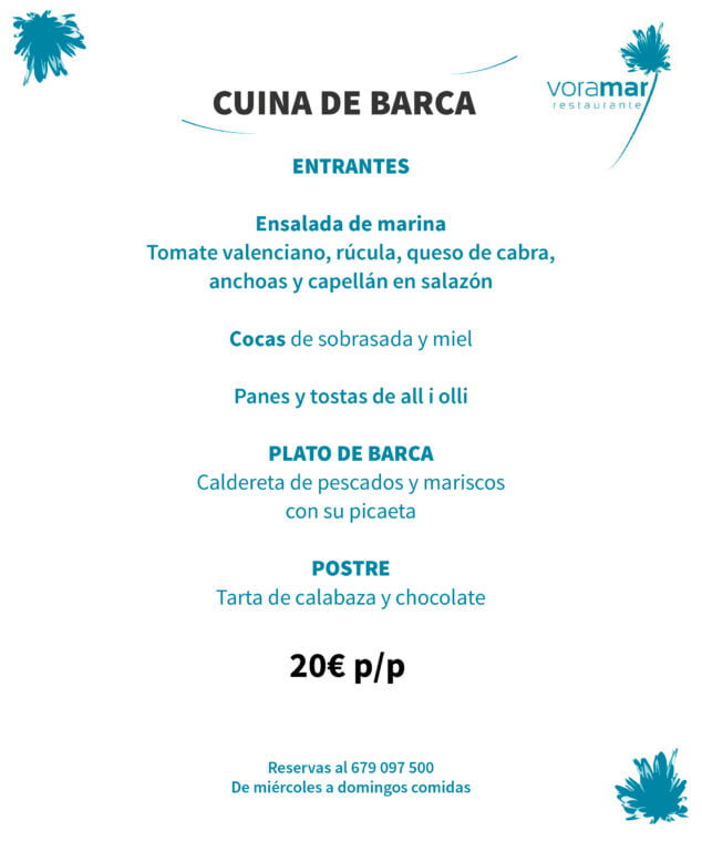 Image: Menu de ragoût de poisson et de fruits de mer à Dénia - Restaurant Voramar