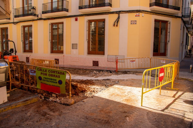 Image: Works stopped in carrer Major