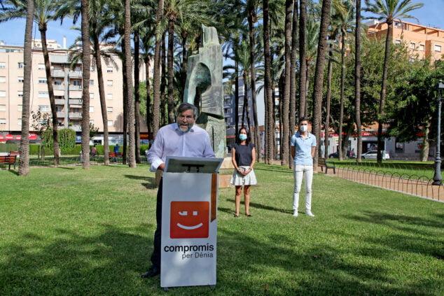 Image: Rafa Carrió during the act of the 9 d'Octubre de Compromís | Tino Calvo