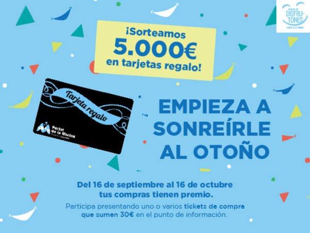 Imagen: Centro Comercial Portal de la Marina sortea entre sus clientes 50 tarjetas regalo de 100€ cada una