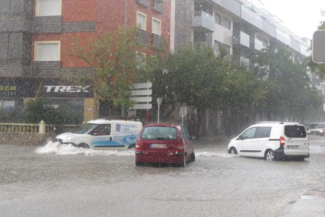 Image: Avenue Miguel Hernández lors des dernières pluies