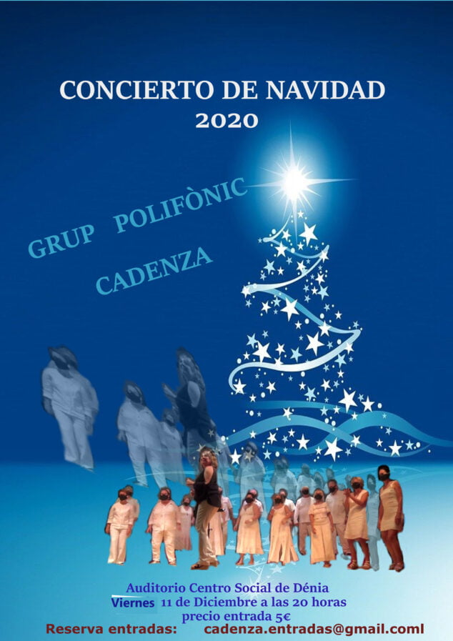 Image: Poster of the Christmas concert of the Grup Polifònic Cadenza