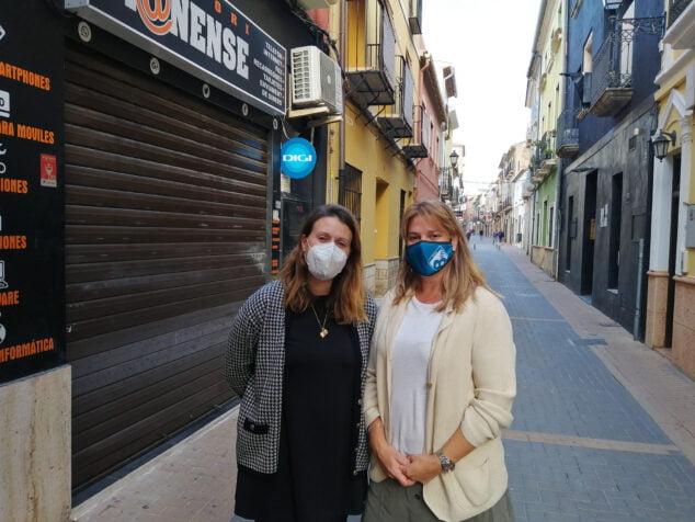 Imagen: Concejalas del grupo municipal de Ciudadanos Dénia