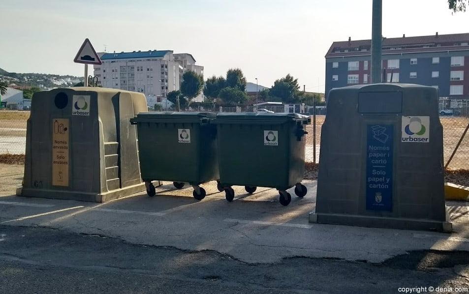 Contenedores de basura en Dénia