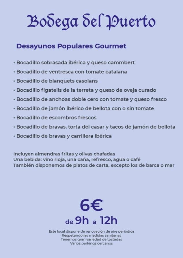 Image: Popular gourmet breakfasts in Dénia - Bodega Del Puerto