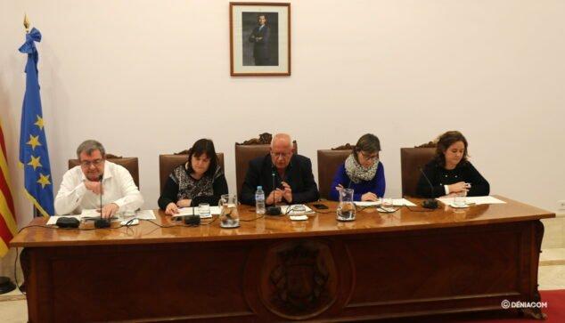 Imagen: El gobierno local durante el pleno ordinario celebrado en noviembre de 2019