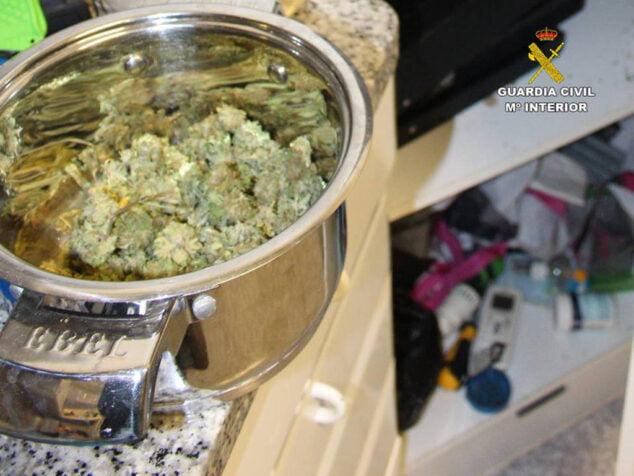 Imagen: Marihuana encontrada en el restaurante