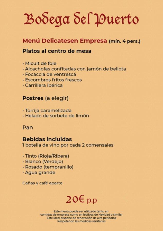 Image: Delicatessen menu for companies for € 20-Bodega Del Puerto