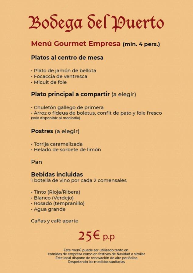 Image: Gourmet menu for companies for € 25 - Bodega Del Puerto