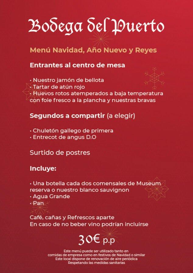 Imagen: Menú de Navidad, Año Nuevo y Reyes en Dénia - Bodega Del Puerto